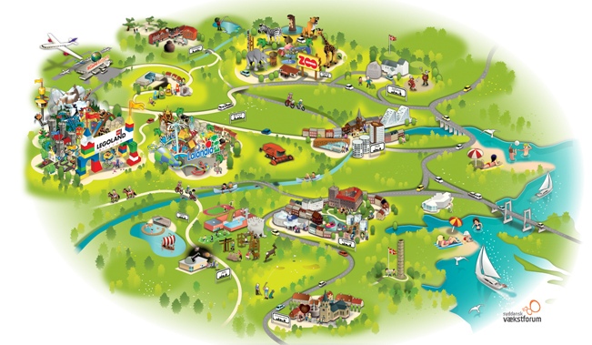 kort over Legoland kolding zoo