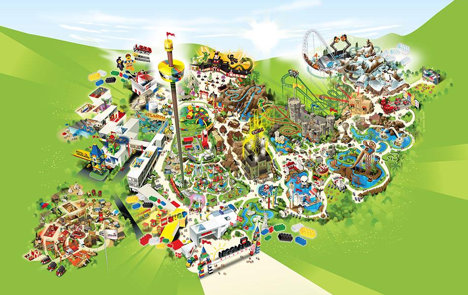 kort over Legoland xxx hårdt